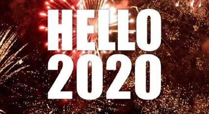 2020年你好微信图片 再见2019你好2020图片英文带字